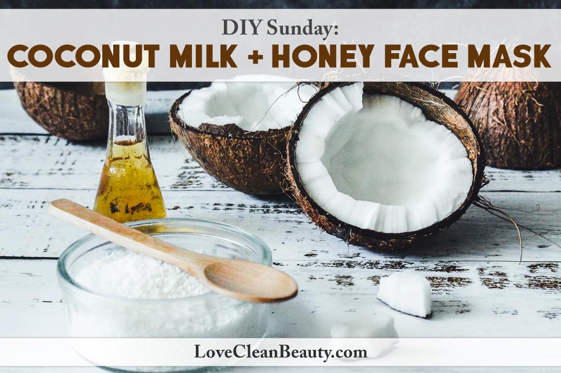 diy coconut milk honey face mask