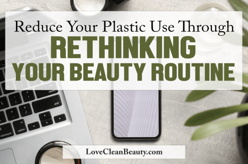 plastic free july beauty routine