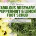 myo fabulous rosemary peppermint lemon foot scrub
