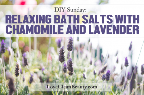 relaxing epsom salt bath with chamomile and lavender recipe