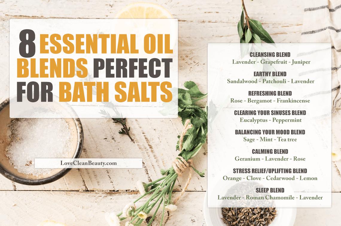 essential oil blends for bath salt recipes