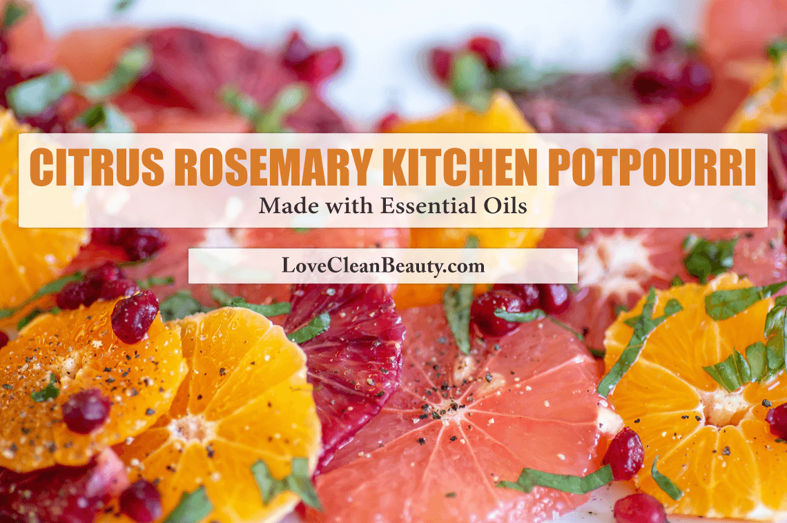 Citrus Rosemary Kitchen Potpourri Made with Essential Oils