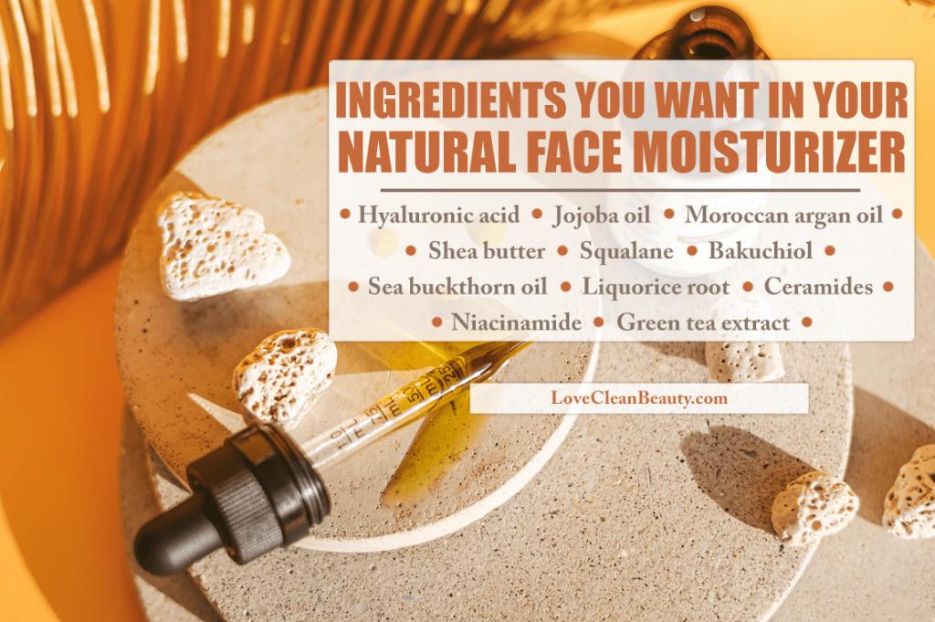 moisturizer natural ingredients for healthy skin
