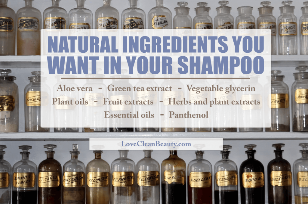 natural ingredients in natural shampoos